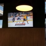 TV mount in bar