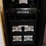 Networking cabinet in undeveloped basement