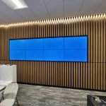 8 screen feature wall mount in office