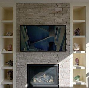 brick fireplace tv mount