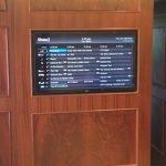 TV mounted in sliding door