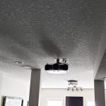 projector screen on ceiling