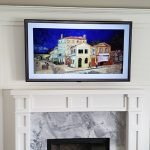 wall unit TV mount over fireplace